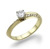 תמונה של טבעת יהלום 0.3 עם משקל זהב 3 גרם