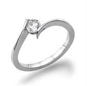תמונה של טבעת יהלום 0.4 קראט עם יהלומים צדדיים 0.30 קראט